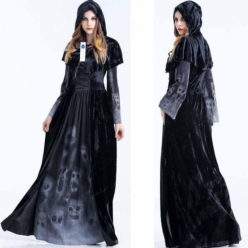 ManLuYunXiao 2017 Cosplay Black Devil Witch Dress Costume Roleplay Halloween Party Uniforms Christmas Costume Women Dress