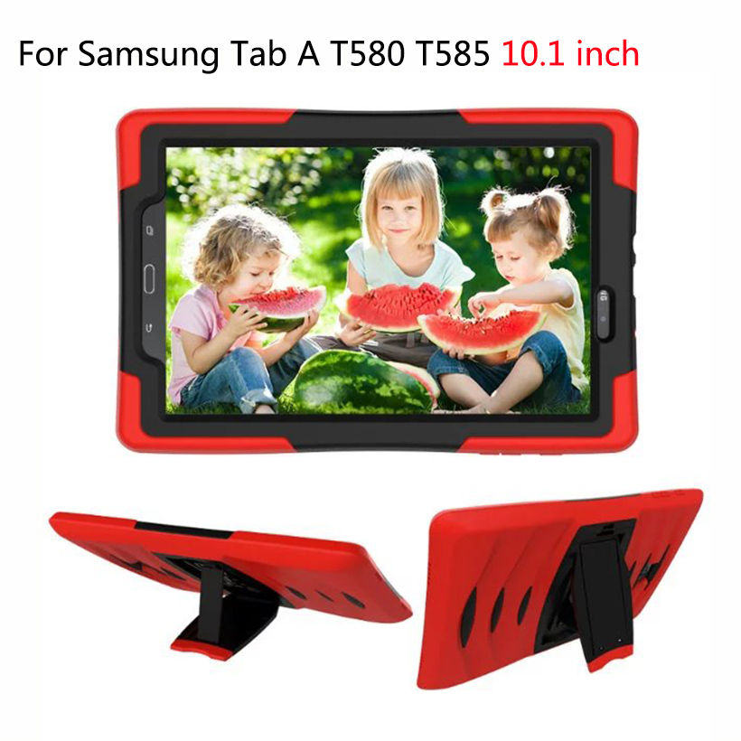 For Samsung Galaxy Tab A A6 10.1 2016 T580 T585 SM-T580 T580N Case Cover Tablet Shockproof Heavy Duty Silicone Hard Case Fundas