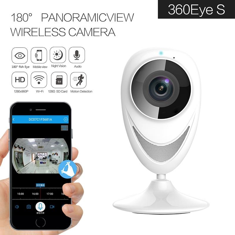 185 Degree Fish Eyes Len Wireless Intercom IP Camera Panoramic VR Camera 960/1080P Optional