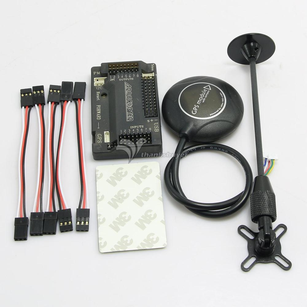 APM V2.8.0 ArduPilot Mega 2.8 APM Flight Controller with Ublox Neo-M8N GPS(GPS Holder)  for FPV Multicopter apm 2 6 flight controller board ardupilot mega 2 6 version with side pin connector for multicopter