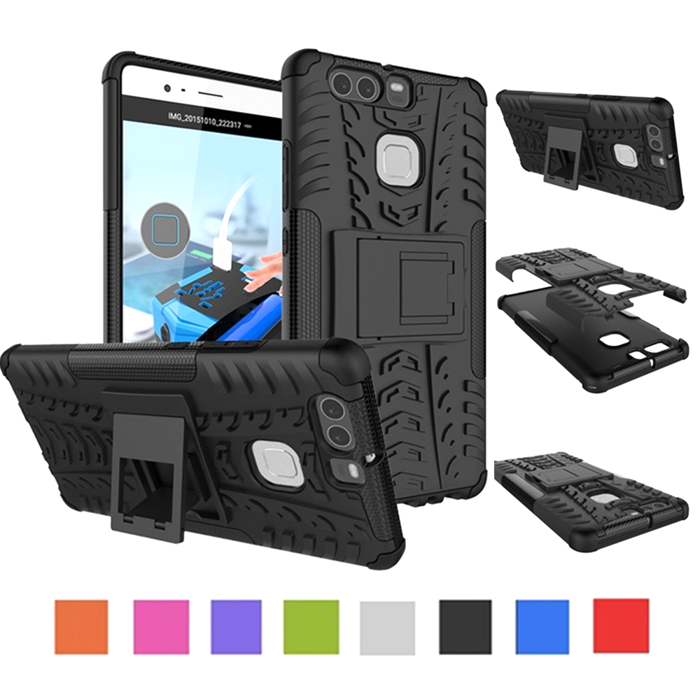 For Huawei P8 P9 Lite 2017 Shockproof Armor Hard PC Silicon Phone Case For Huawei P10 Plus Lite Soft TPU Back Cover Coque
