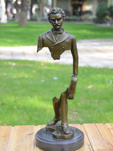 The bronze sculpture figures ornaments Strauss European music hall Home Furnishing jewelry gift hotel decoration стоимость