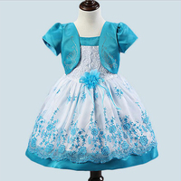 1pcs Sells 2014 Korean Foreign Girls Dress Girl Retail Free Drop Shipping