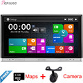 Top 8'' Two Din Wince Car DVD Radio For Universal With GPS Map Stereo BT Radio Multimedia Reverse Camera