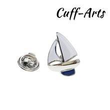 Broche de solapa para hombres pines y broches vela Pin para solapa con insignia joyería de Broche Pin de la solapa de Cuffarts P10191