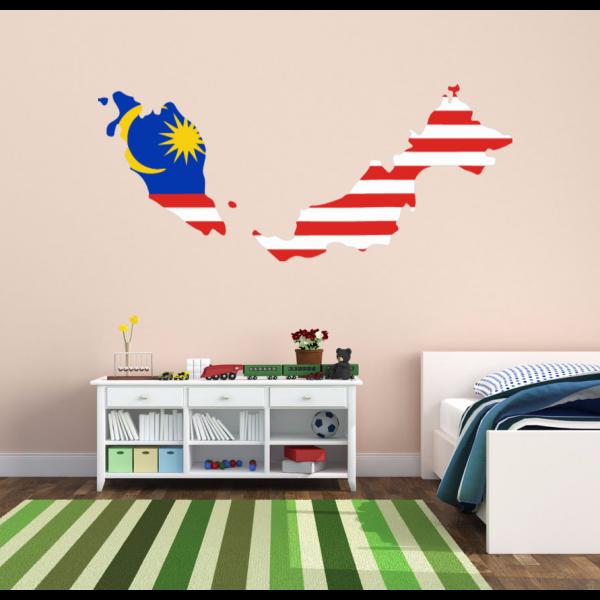Aliexpresscom Buy Flag Map Of Malaysia Wall Vinyl Blackboard - Custom vinyl stickers malaysia