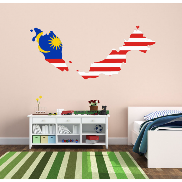 flag map of malaysia wall vinyl blackboard door sticker custom house