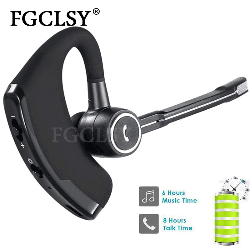 FGCLSY V8S Business Bluetooth Earphone Wireless Headset Handsfree with mic Car Bluetooth ear-hook Earpiece For iPhone XR 7 6S