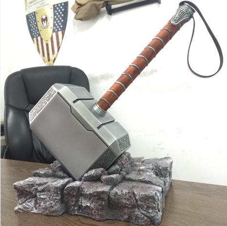Nouveau Thor Ragnarok thor3 Mjolnir Thor marteau cosplay métal édition limitée figurine jouets cadeau de noël jouet 43*22*30 CM