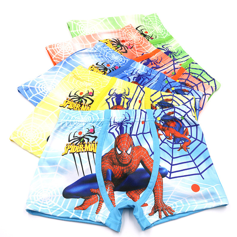 5pcs/Lot 2-9Years Cartoon SuperHero Spiderman Boys   Panties   Microfiber Underwear Shorts Kids Briefs Children Boy Pants Boxer
