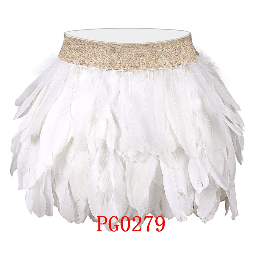 Feather Body Harness Bra and Feathers Skirt for Women Fashion Sexy Cage Bondage Lingerie Punk Gothic Dance Festival Wear