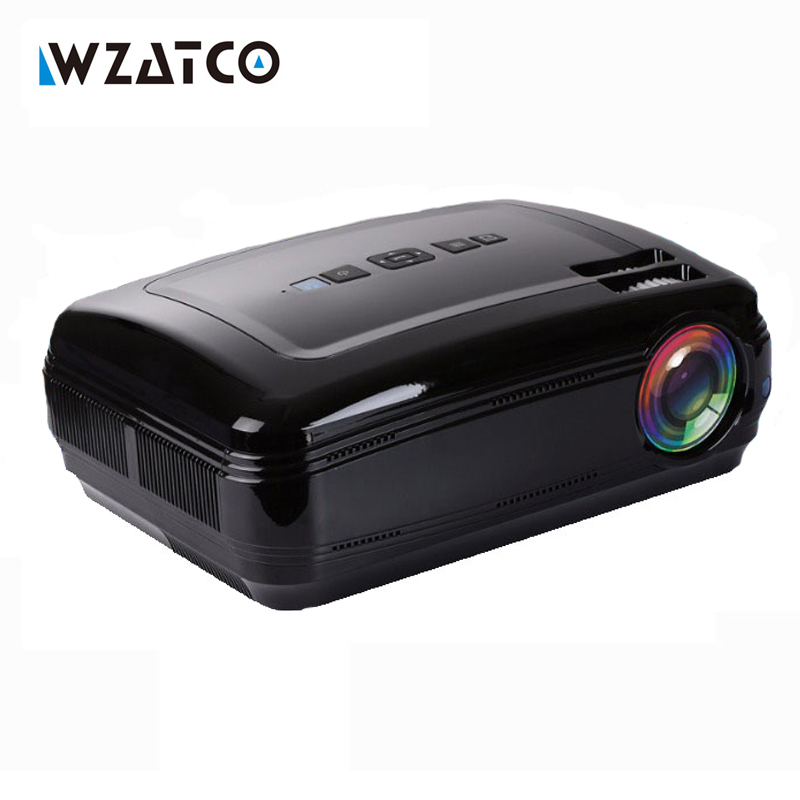 Wzatco Android 6.0 5500 lúmenes Multimedia Home Theater 3D tv led proyector Full HD 1080 p video juegos portátil Beamer proyector bt96