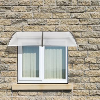 100*80 100*100 100*200 cm zastosowanie gospodarstwa domowego drzwi okno osłona przeciwdeszczowa okap czarny uchwyt na z poliwęglanu baldachim markiza przeciwdeszczowa tanie i dobre opinie Poliester G26000339