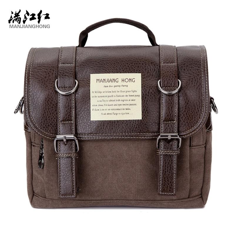 Multifunctional Man Bag Quality Guaranteed Brand Bag Canvas Shoulder Bag Change to Small Back Pack by Moving Shoulder Strap 1280 change translated by howard goldblatt