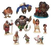 10pcs/set Moana Princess Half god doll toys children doll ornaments Automotive Decoration 6 10cm
