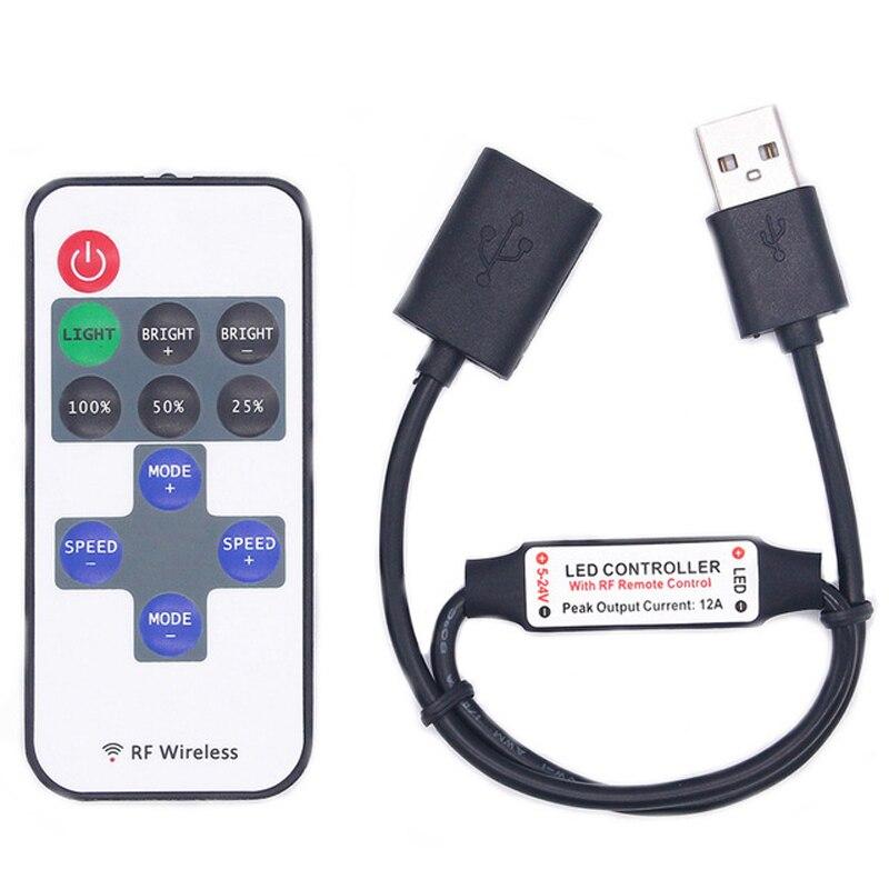 USB LED Strip Controller USB 11KEY Controller RF Remote 11Key Led Remote Controller USB 2835 5050 Magic Home For Led Strip Light