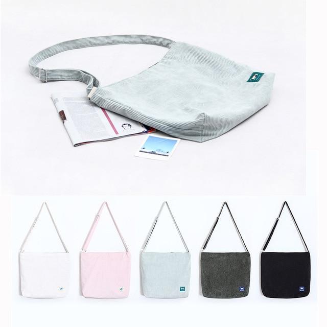 Small Fresh Retro Bag Art Leisure Messenger Corduroy Cloth Factory Direct Retail Whole