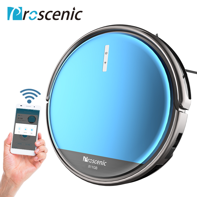 Proscenic 811GB Wifi Robot Vacuum Cleaner Floor Dust Auto Sweeping Cleaning Carpets Animal Hair Vacuum Cleaner