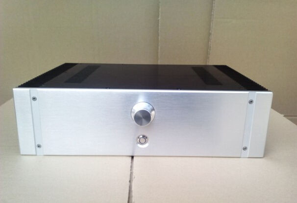 RC4312 full Aluminum Preamplifier enclosure /DAC case/ amplifier chassis AMP BOX 4308 rounded chassis full aluminum enclosure power amplifier box preamplifier chassis