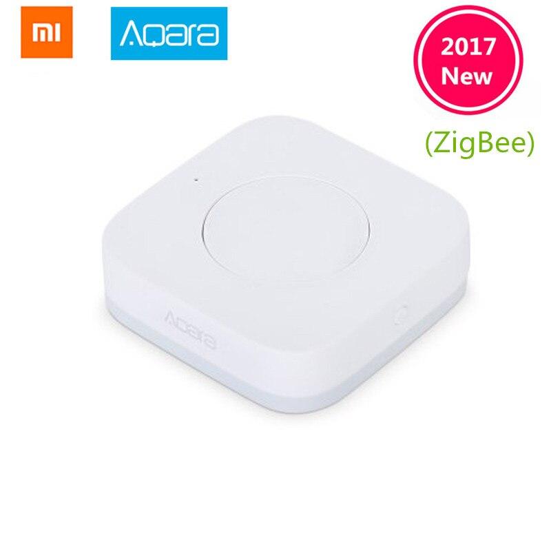 En Stock Xiaomi Aqara Smart Wireless Switch Key incorporado en la función Gyro, ZigBee Wifi funciona con xiaomi smart home Mijia mi home App