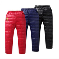 Children White Duck Down Pants Kids Boys Girls Long Style Thicken Warm Winter Trousers 2016 New