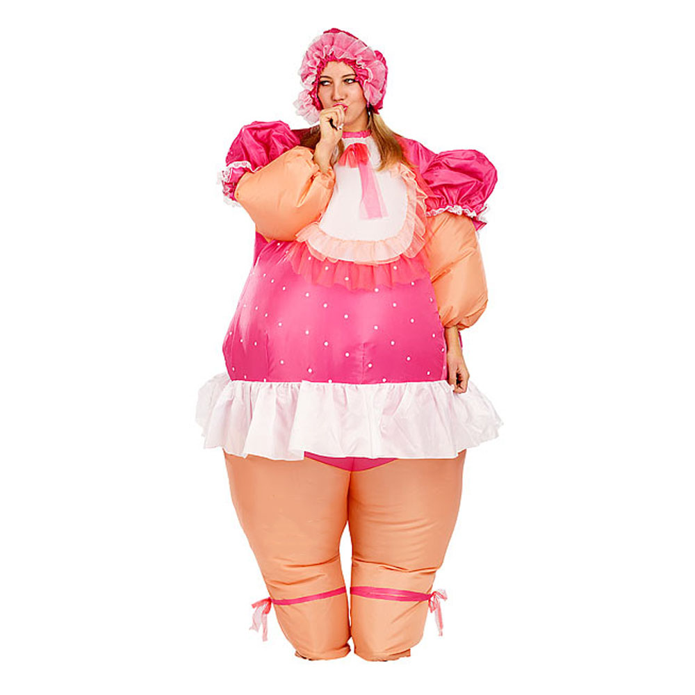 Inflatable Baby Doll Costume for Women Men Adult Party Carnival Cosplay Fancy Dress Russian Blowup Suit Stage Performance Outfit