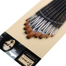 Buy 9Pcs/set Flat Head Artist Paint Brush For Acrylic Oil Painting Brushes Different Size Watercolor Paint Brush Art Supplies 801 directly from merchant!