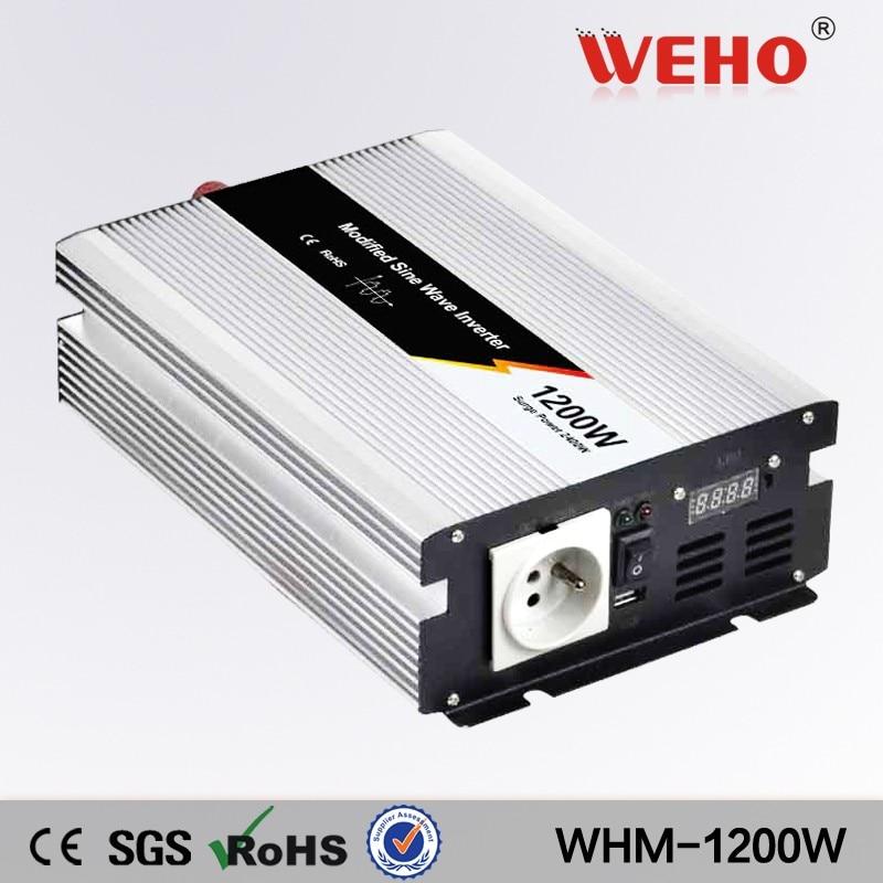 (WHM1200-122) Modified sine wave inverter 1200w solar inverter 12vdc 220vac off grid single output power inverter