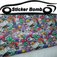 JDM Graffiti Stickerbomb Vinyl Wrap Film Vehicle Motorcycle Car Sticker Decal Car Styling Wrapping Foil