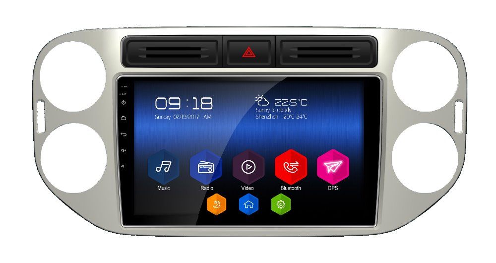 latest otojeta big car DVD player headunit tape recorder for Volkswagen Tiguan 2010 radio stereo android
