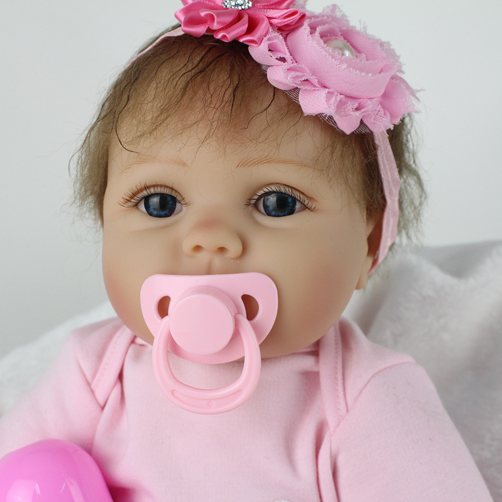 silicone reborn baby dolls preemie educational toys brinquedos russian doll blue eyes new born baby girl kawaii npkdoll bebe toy kawaii baby dolls