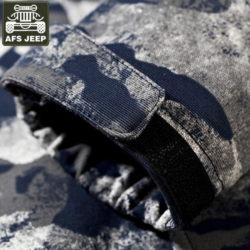 AFS JEEP marque 2017 veste hommes Camouflage militaire à capuche hommes Bomber vestes imprimer Jaqueta Masculina Chaqueta Hombre M-4XL - 5