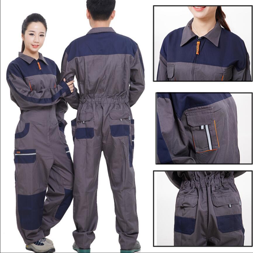 S-5xl Coverall Overalls Men Uniform Auto Repair Machine Repair Dust Clothing Jumpsuit Plus Size Repairman Strap Working Trousers