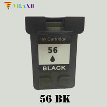 Vilaxh 56 Compatible Ink Cartridge Replacement for HP 56 for Deskjet 450CI 5150 5550 PSC 1315 1350 2110 Officejet 4110 Printer