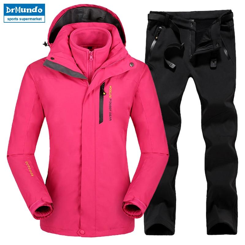 Plus Size Mountain Skiing Ski-wear Waterproof Hiking Outdoor jacket Snowboard jacket Ski suit Women Large Size Snow jackets plus size floral linen blend jacket