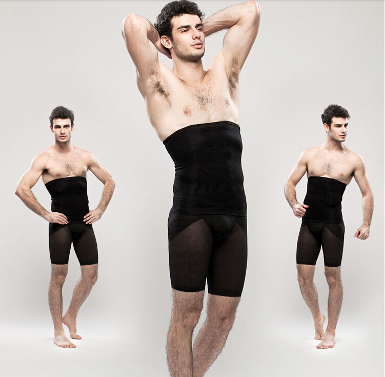 c82266f08a052 2pcs set Men slimming waist touch girdle tummy trimmer belt seamless ...