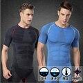 Camiseta DELGADA de los hombres Ropa Interior Que Adelgaza Faja de Compresión de secado rápido de los hombres Camisetas