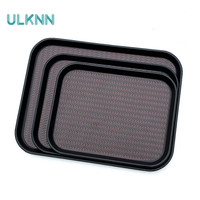 Fast Food Tray Rectangle Canteen Service Plate Slip Leather Disc Tray for Home/Hotel Kitchen Storage Trays Organization