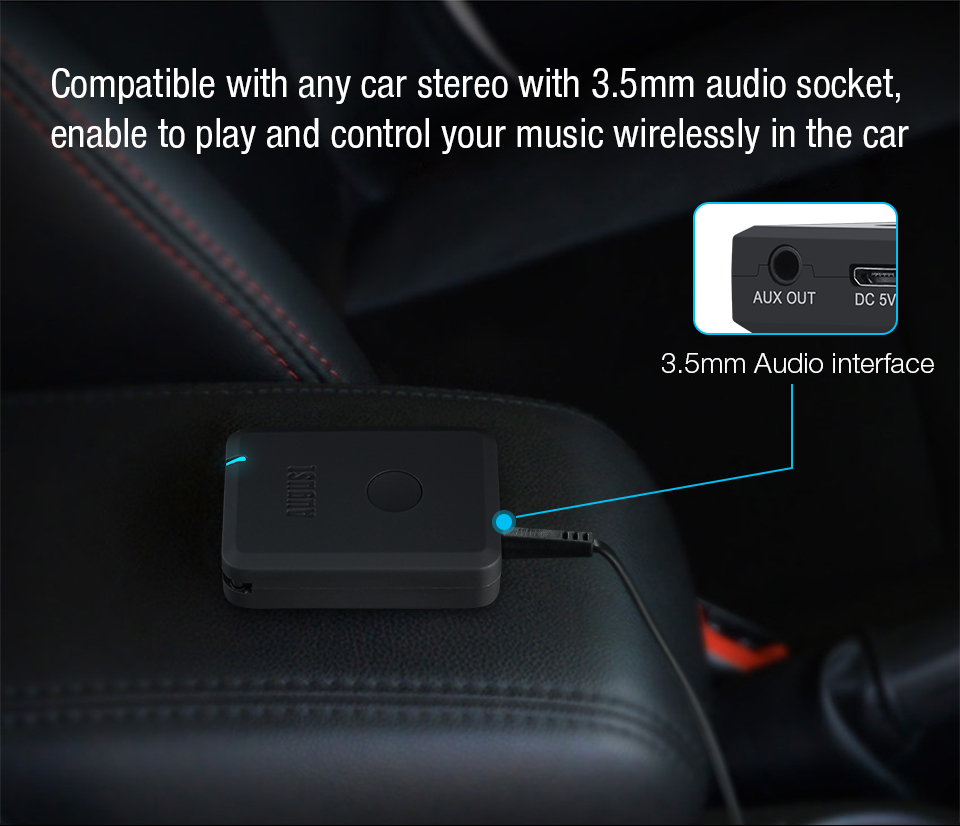 August Bluetooth Receiver for Car