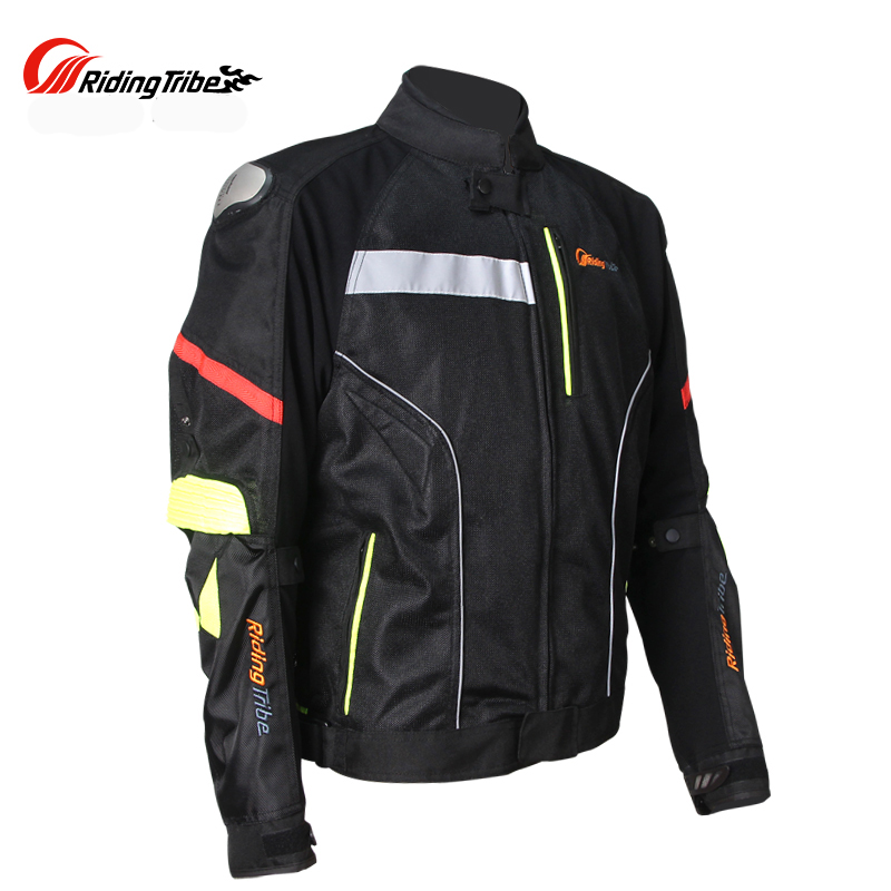 Riding Tribe Motorcycle Titanium Shoulder Protective Jacket Drop Mesh Racing Motorbike Jackets 7 Pcs Gear protectors Clothes riding tribe men s motorcycle bikes slimming protective armor jackets motocross breathable cycling suits clothes with 6 pads