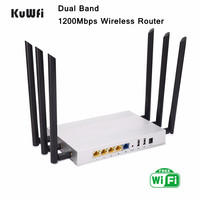 1200Mbps Wireless Router Dual Band Gigabit Through Wall Wifi Router WiFi Repeater AP Router Up to 128 Users