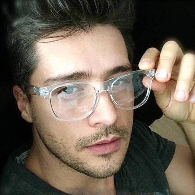 a6071a27e68fa Moda Masculina Mulheres Vidros Ópticos Quadro Marca de Óculos Com Vidro  Transparente Claro Transparente Armações de