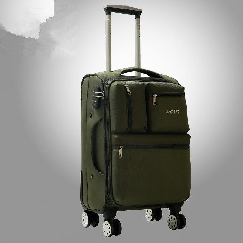 Универсальный колеса luggage20 22 24 26 28 Ткань Оксфорд багаж, мужской и женский большой емкости водонепроницаемый Дорожная сумка на колесах ...