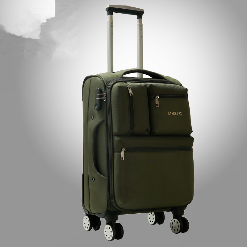 Universal wheels luggage20 22 24 26 28 oxford fabric travel luggage,male and female large capacity waterproof luggage on wheels