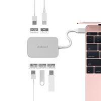 Aluminum Alloy USB C to 4 port USB 3.0 Hub with HD Output Port USB Type C Port and 1 4K HD Port for MacBook Pro Pixel iphone 7