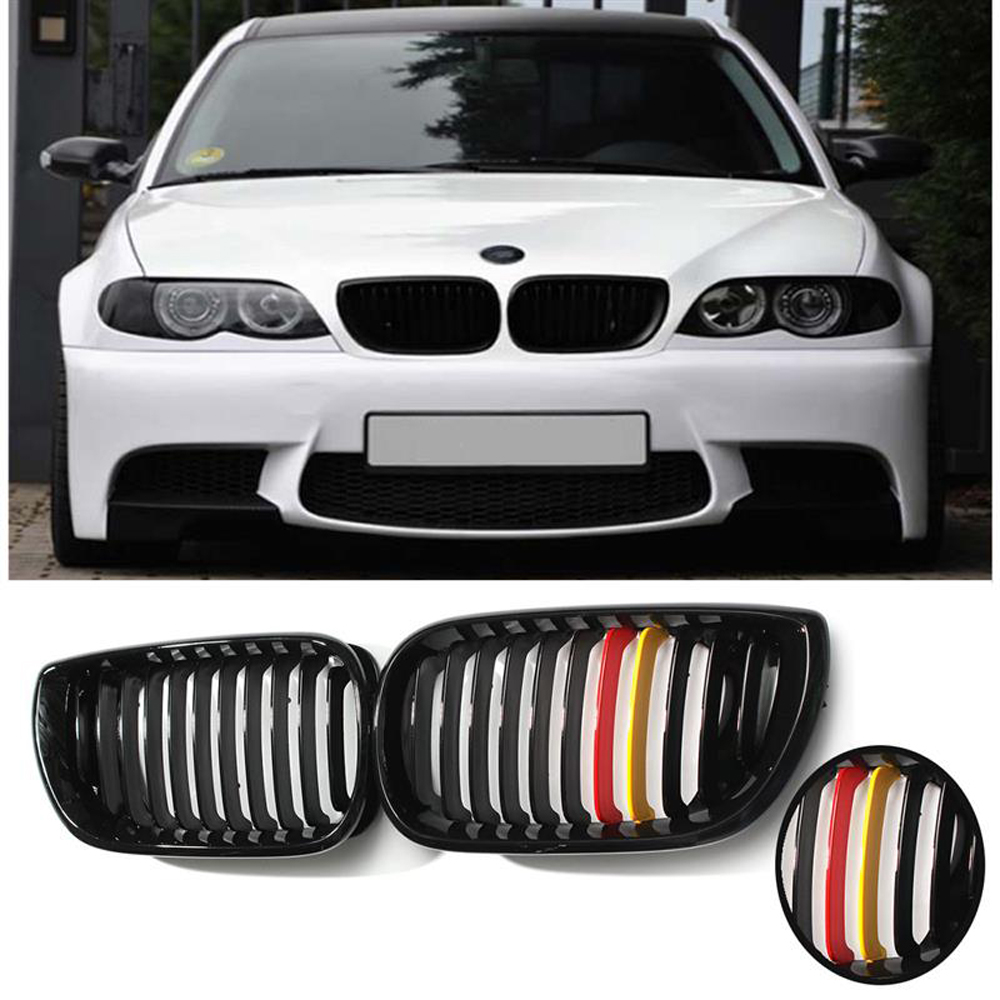 Liplasting 2pcs Style Front Kidney Grille Grill For Car Bmw E46 02 Kacamata Oem Gb001 Black 04 3colors Red Yellow Racing Grills In From Automobiles Motorcycles