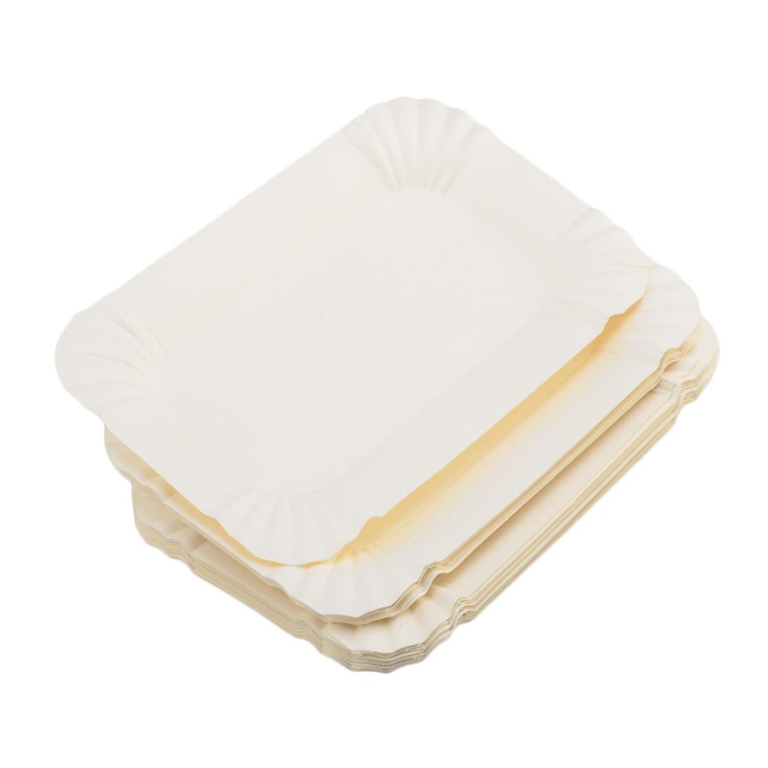 20Pcs Disposable Rectangular Dinnerware Paper Plates and 200Pcs Natural Bamboo BBQ Skewers Roasting Sticks Barbecue Tool  sc 1 st  AliExpress.com & Hot sale 20Pcs Disposable paper plates Rectangular Dinnerware Paper ...