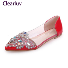 NEW Fashion  Flats Shoes Women Ballet Princess Casual Crystal Boat Rhinestone shoes C0600