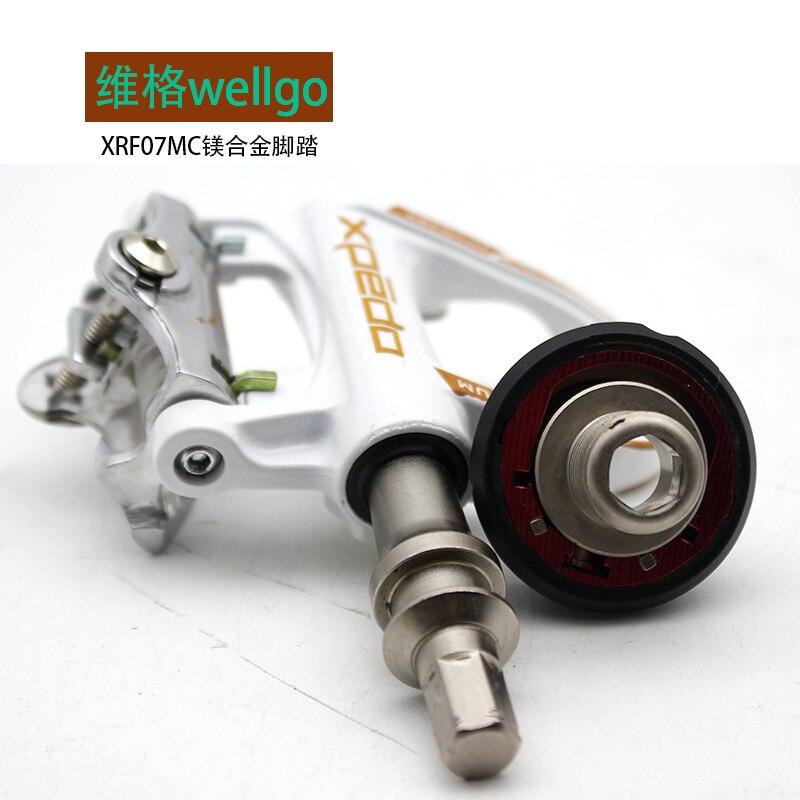 Wellgo vélo de route clipless Pédales en alliage de magnésium avec 1 paire look keo Compatible crampons autobloquant pédale QRD-XRF07MC 235g