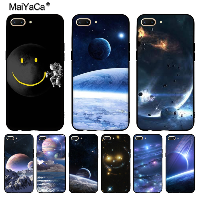Discreet Maiyaca Astronauts On The Moon Smile Face Fashion Phone Case Cover For Oppo R9 R9s R11 Plus Casefor Vivo X9 Plus X20 Case Cellphones & Telecommunications Phone Bags & Cases